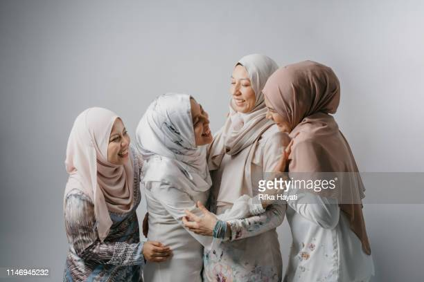 Portrait of Young Women Siblings for Hari Raya Aidilfitri (Eid al-Fitr)