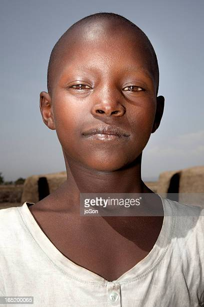 portrait of younth maasai girl - native african girls stock photos and pictures
