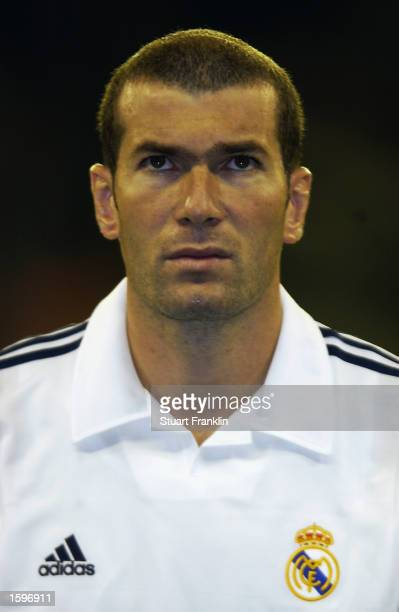 Portrait of Zinedine Zidane of Real Madrid before the UEFA Champions League First Stage Group C match between Real Madrid and AEK Athens held on...