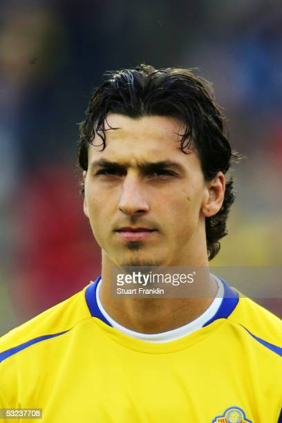 A portrait of Zlatan Ibrahimovic of Sweden prior to the World Cup 2006 Qualifying match between Sweden and Malta held at the Ullevi Stadium on May 24...