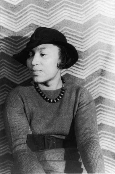 Portrait of Zora Neale Hurston, circa 1940s. .