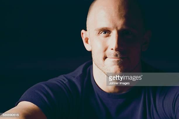 Portrait off smiling man