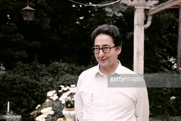 Portrait on August 1, 1981 in Auvers-sur-Oise shows first President of Iran Abolhassan Banisadr. - Following his impeachment by the Majlis allegedly...