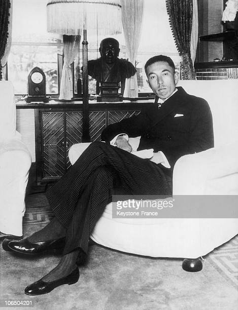 Portrait On May 18Th 1934 Of Prince Fumimaro Konoe President Of The Japanese House Of Peers And Future Prime Minister Of The Emperor Hirohito From...