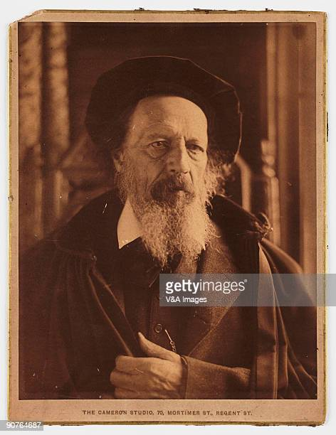 Portrait photograph by Henry Herschel Hay Cameron of the poet Alfred Lord Tennyson . Tennyson was Poet Laureate and was made a peer. One of his...