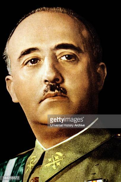 Portrait photograph of Francisco Franco Spanish military leader and statesman who became the dictator of Spain He ruled from 1936 until his death in...