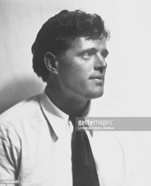 Portrait photograph of Jack London American author journalist and social activist Photographed by Arnold Genthe Germanborn American photographer...