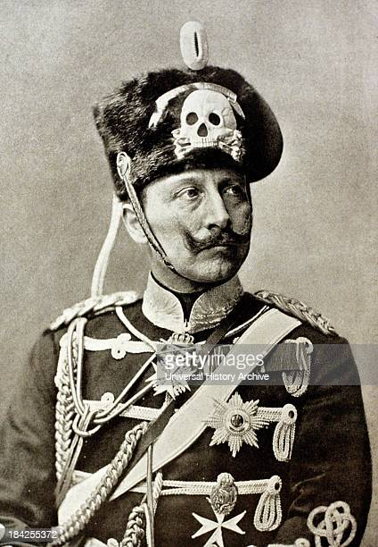 Portrait photograph of Kaiser Wilhelm III Lived between 1859–1941 and was the last German Emperor and King of Prussia He ruled the German Empire and...