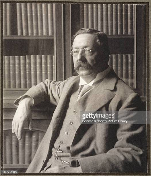 Portrait photograph of William Henry Perkin Jr , signed by the sitter, probably taken in his office in the then new Dyson Perrin Laboratory at Oxford...