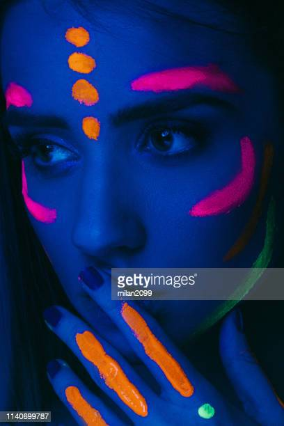 portrait - body paint stock pictures, royalty-free photos & images