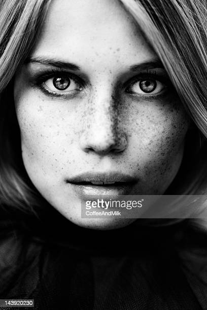 portrait - black and white face stock photos and pictures