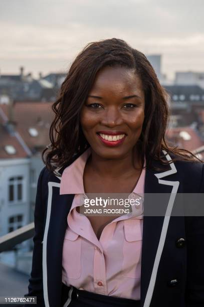 Portrait picture shows N-VA's Assita Kanko at a press conference of conservative Flemish nationalist party N-VA to present the elections list for the...