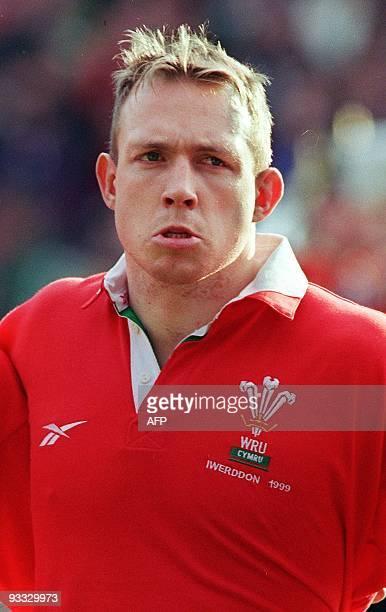 portrait pris le 20 février 1999 au stade de Wembley à Londres du talonneur gallois Barry Williams avant le début du match contre l'Irlande comptant...