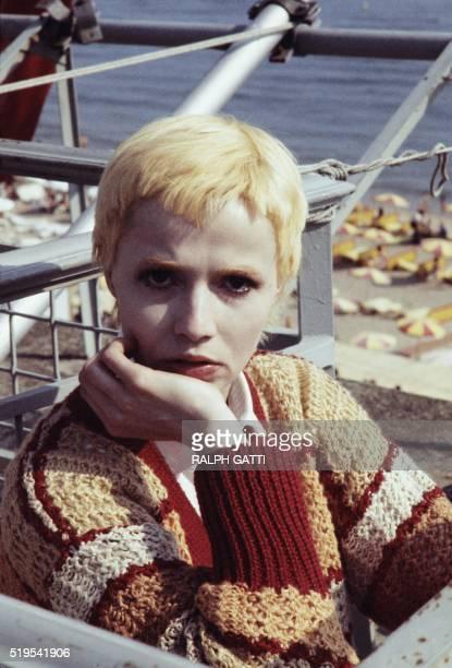 Portrait pris le 28 mai 1978 lors du Festival du Film de Cannes de la comédienne française Catherine Jourdan. L'actrice, lancée par l'écrivain et...