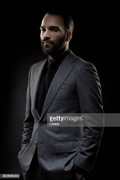 Portrait profile picture of a stylish bearded gentleman