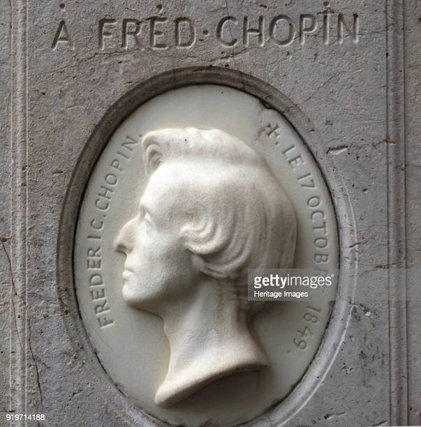Portrait relief of Frédéric Chopin in the PèreLachaise Cemetery 1849 Found in the Collection of Le Cimetière du PèreLachaise