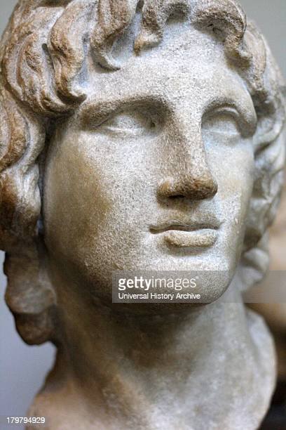 Portrait sculpture of Alexander the Great Made of marble said to be from Alexandria Greek 2nd1st century BC