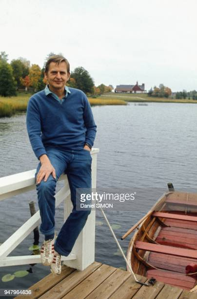 Portrait Session of Swedish politician Olof Palme in September 1973 in Stockholm Sweden