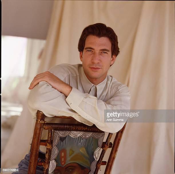 Portrait session with actor Dylan McDermott circa 1984 in studio in Victor Clothing Building downtown Los Angeles