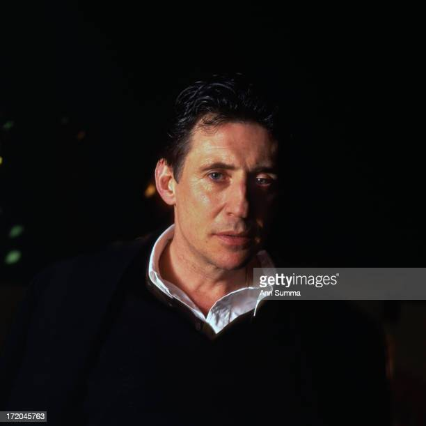 Portrait session with actor Gabriel Byrne after he signs his autobiography at a book reading