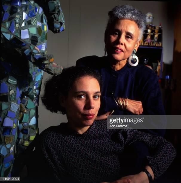 Portrait session with artists Alison Saar and mother Betye Saar in Los Angeles in 1994