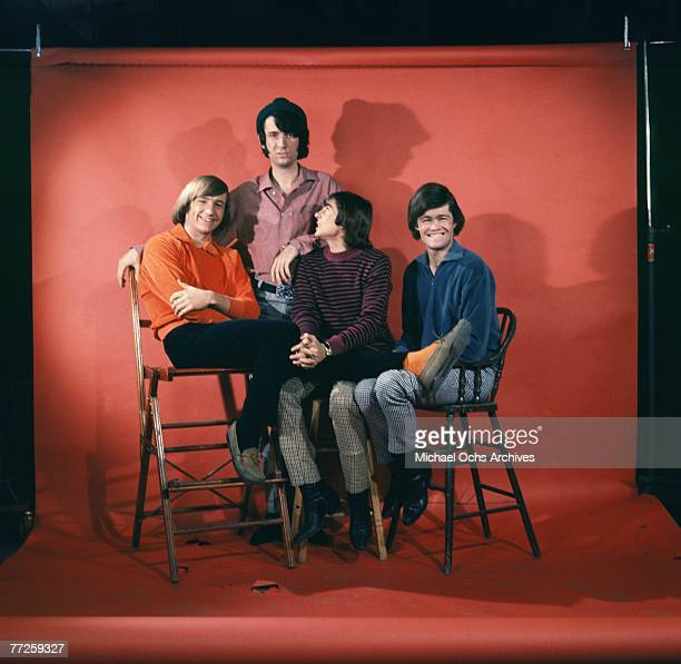 Portrait session with Davy Jones Mickey Dolenz Peter Tork and Mike Nesmith of the The Monkees circa 1967 in Los Angeles California