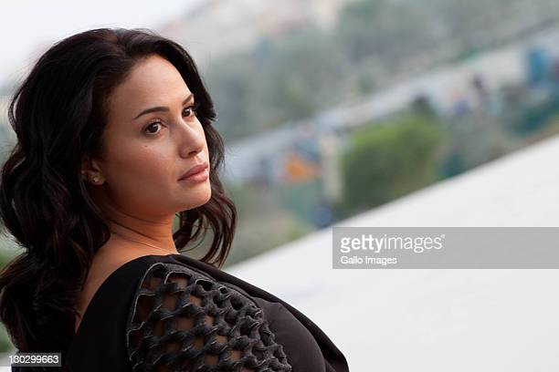Portrait session with Tunisian actress Bind Sabri Abu Dhabi Film Festival Day eight at Fairmont Hotel on October 20 2011 in Abu Dhabi United Arab...