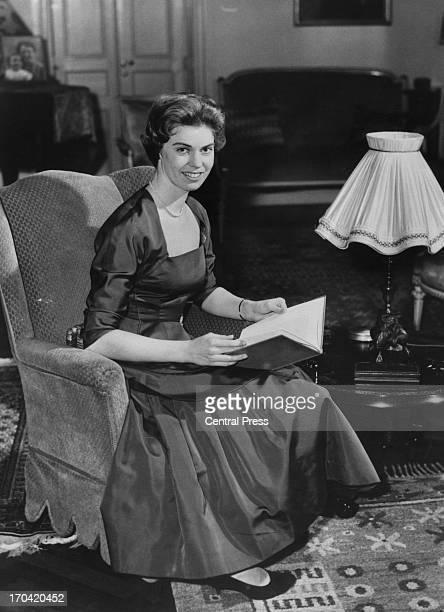 Portrait shot of Princess Margaretha of Sweden at the Royal Palace, Stockholm, Sweden, 31st December 1957.