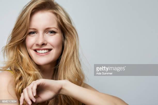 Portrait shot of young beautiful woman