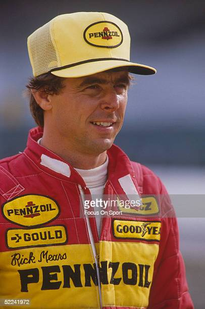 A portrait shows Rick Mears before racing the Indy 500 at the Indianapolis Motor Speedway on May 29 1983 in Indianapolis Indiana