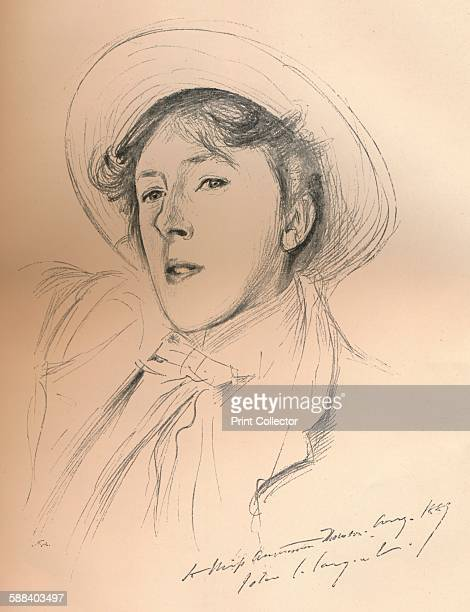 Portrait sketch of Miss Violet Paget ', circa 1881. Vernon Lee? was the pseudonym of the author Violet Paget . From The Studio Volume 19. . Artist...