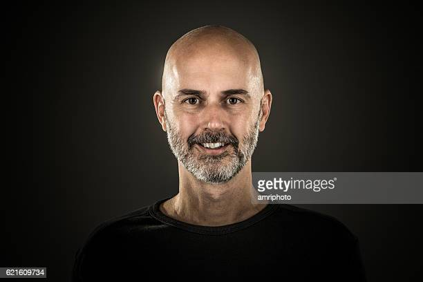 portrait smiling man with beard
