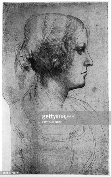 Portrait study of a young girl's head 15th century Found in the collection of the Royal Library Windsor Castle Windsor A print from Leonardo da Vinci...