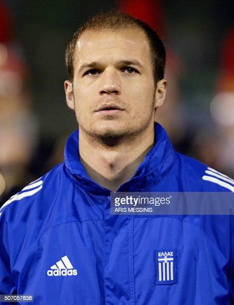 Portrait taken 18 February 2004 in Athens of Greek midfielder Aggelos Basinas AFP PHOTO/ Aris MESSINIS / AFP / ARIS MESSINIS
