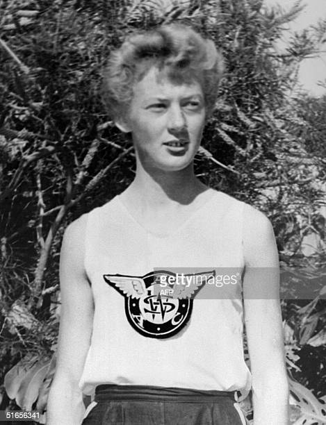 Portrait taken in 1956 of Australian athlete Betty Cuthbert threetime gold medalist in the 100m 200m and 4 x 100m events of Melbourne Olympic games...