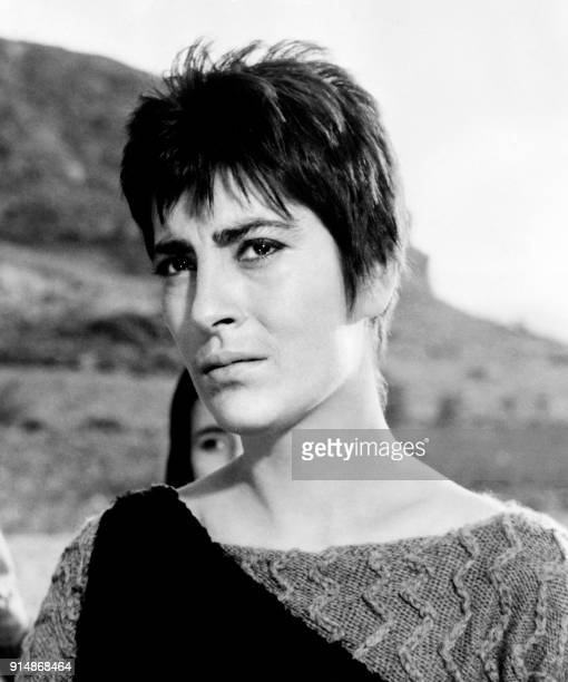 Portrait taken in 1961 shows Greek actress Irene Papas during the filming of 'Electra' directed by Michael Cacoyannis The film was entered into the...