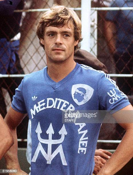 Portrait taken in 1978 in Bastia of Dutch forward Johnny Rep who reached the UEFA final with his club that same year With the club of Ajax Amsterdam...