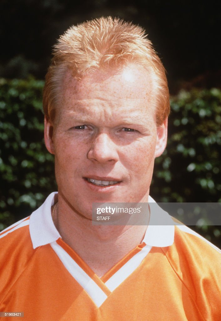 Portrait taken in 1990 in Amsterdam, of Dutch defender Ronald Koeman, selected to play with the Netherlands in the 1990 World Soccer Cup in Italy.