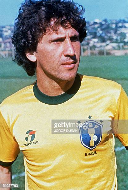 Portrait taken in June 1985 of midfielder Zico selected to participate with Brazil's national soccer team to the 1986 World Cup taking place in...