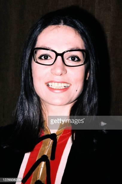 Portrait taken in March 1971 shows Greek singer Nana Mouskouri.