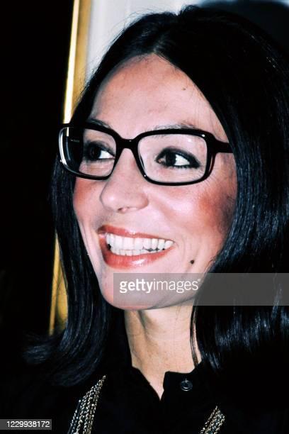 Portrait taken in September 1973 shows Greek singer Nana Mouskouri.