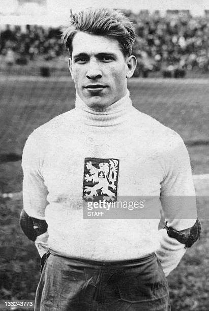 Portrait taken in the 1930's of Czechoslovakian goalkeeper Frantisek Planicka who participated in two World Cups with the national soccer team losing...