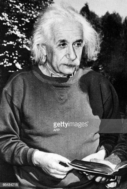 Portrait taken on 1949 of Germanborn SwissUS physicist Albert Einstein author of theory of relativity awarded the Nobel Prize for Physics in 1921