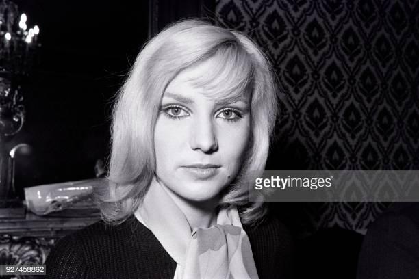Portrait taken on December 19 1969 in Paris shows French singer Michèle Torr / AFP PHOTO /