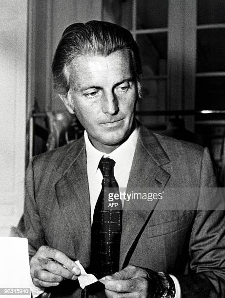 A portrait taken on December 1970 shows French aristocrat and fashion designer Hubert de Givenchy in Paris AFP PHOTO