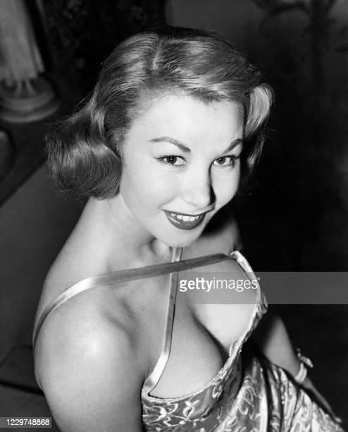 """Portrait taken on December 8, 1956 in London shows French actress Nadine Tallier, born Nadine Lhopitalier, attending the TV show """"Constellation"""" - In..."""
