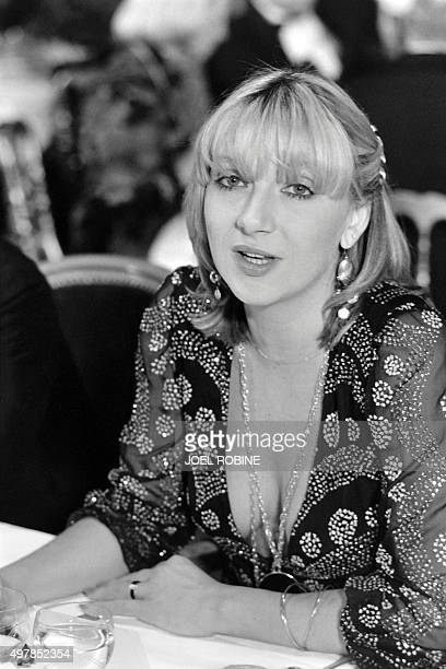 Portrait taken on December 8 1981 shows Elisabeth Allain wife of French President Adviser Jacques Attali during the Ball X at the Opera Garnier in...