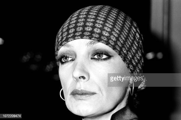 Portrait taken on February 3, 1977 shows French singer and actress Marie Laforêt.