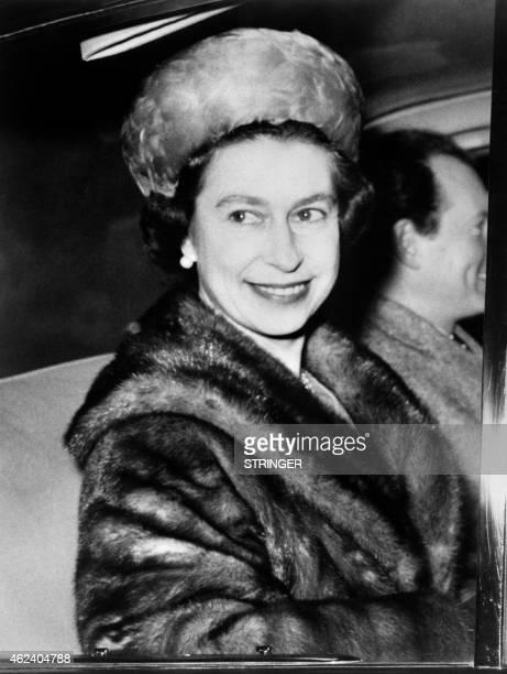 Portrait taken on January 7 1969 shows Britain's Queen Elizabeth II wearing fur AFP PHOTO