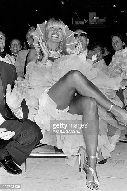 Portrait taken on June 29, 1985 shows French dancer at Paris Crazy Horse Saloon strip club Lova Moor during her wedding with Alain Bernardin ,...